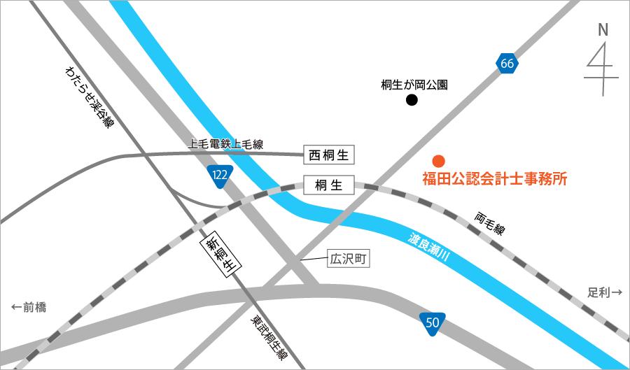 アクセスマップ:福田公認会計士事務所